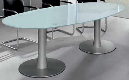 vergadertafel Ovaal van glas